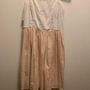 Francesca's Flower Strapless Dress